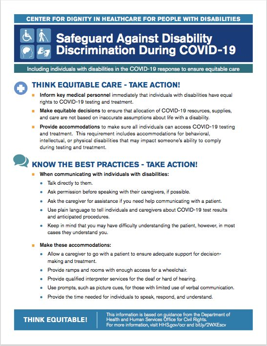 Thumbnail of a flyer on safeguards against discrimination